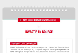 Petit lexique des placements financiers – Investir en Bourse
