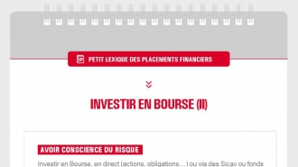 Petit lexique des placements financiers – Investir en bourse (II)